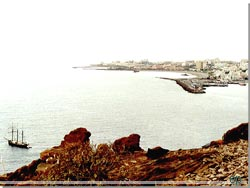 Tenerife. Udsyn over Los Christianos fra Guaza klippen