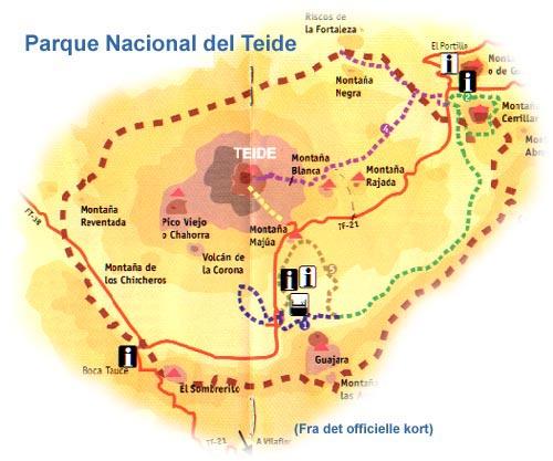 Kort Over Teide Nationalpark Inspiration Til Vandreture Pa Tenerife